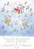 QUIRE Fröhliche Weihnachten / Elefanten machen Musik Postkarte