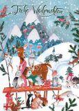 GOLLONG Frohe Weihnachten / Reh + Hasen - Cartita Design Postkarte