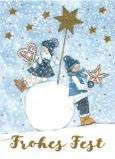 GOLLONG Frohes Fest / two children with stars - Kerstin Heß postcard