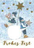 GOLLONG Frohes Fest / zwei Kinder mit Sternen - Kerstin Heß Postkarte