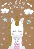 GOLLONG Zauberhafte Weihnachten / Einhorn - Katrin Lorenz Postkarte