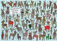 TAURUS-KUNSTKARTEN Welche beiden Rentiere tragen den gleichen Schal? - Charis Bartsch Postkarte