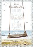 HARTUNG EDITION Zum Geburtstag sei Du selbst / Schaukel IN TOUCH Postkarte