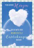 HARTUNG EDITION Folge Deinem Herzen / Herzwolke vor Regenbogen IN TOUCH Postkarte