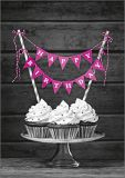 HARTUNG EDITION cupcakes with pink birthday garland KONTRASTE postcard