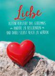 GOLDBEK Liebe versteht Geheimnis / rotes Herz Lichtblicke Postkarte