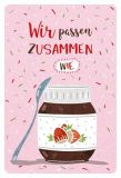 GOLDBEK Wir passen zusammen wie / Löffel + Nuss-Nougat-Creme Hello Friends Postkarte