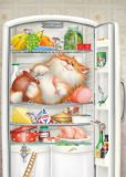 ACARDS Katze im Kühlschrank - Alexey Dolotov Postkarte
