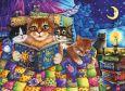 ACARDS Lesende Katzen - Irina Garmashova Postkarte