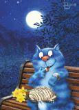 ACARDS Date in der Nacht - Irina Zeniuk Postkarte