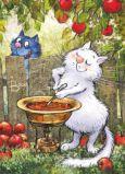 ACARDS Apfelmarmelade kochen - Irina Zeniuk Postkarte