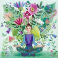 GOLLONG Frau macht Yoga - Mila Marquis Postkarte
