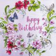 GOLLONG Happy Birthday / wreath with lilies of the valley - Nina Chen postcard