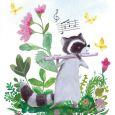 GOLLONG Waschbär mit Flöte - Tatjana Mai-Wyss Postkarte