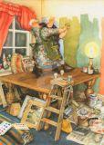 TAURUS-KUNSTKARTEN Frauen tanzen auf dem Tisch - Inge Löök Postkarte