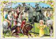 TAUSENDSCHÖN 300 Jahre Friedrich II. / Statue Postkarte