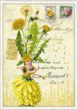 TAUSENDSCHÖN Blumenfee mit Löwenzahn Postcard Postkarte