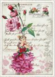TAUSENDSCHÖN flower fairy with peony postcard