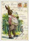 TAUSENDSCHÖN Fröhliche Ostern - Hase mit Pfeife Postkarte