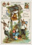 TAUSENDSCHÖN Frohe Ostern - bunny with bell postcard