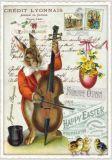 TAUSENDSCHÖN Fröhliche Ostern - Hase mit Cello Postkarte