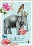 TAUSENDSCHÖN Elefant mit Eule Postkarte