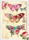 TAUSENDSCHÖN Blumenschmetterlinge Postkarte