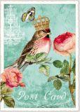 TAUSENDSCHÖN Vogel mit Krone + Christrosen Postkarte