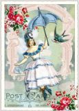 TAUSENDSCHÖN Dame mit Schirm Postkarte