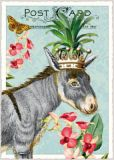 TAUSENDSCHÖN Esel mit Krone Postkarte