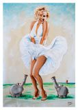 MT Marilyn Monroe / Kleid pusten - Otto Waalkes / Ottifanten Postkarte