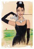 MT Audrey Hepburn - Otto Waalkes / Ottifanten Postkarte