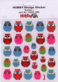 HobbyFun Eulen I Hobby-Design Sticker