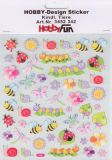 HobbyFun Kindliche Tiere Hobby-Design Sticker