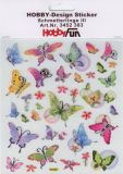 HobbyFun Schmetterlinge + Blumen Hobby-Design Sticker