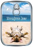 HARTUNG EDITION Stressfreie Zone / cat metallic effect refined postcard