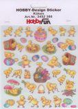 HobbyFun Küken Hobby-Design Sticker