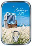 HARTUNG EDITION Lieblingsplatz / Strandkorb Metalliceffekt Postkarte