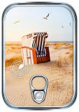 HARTUNG EDITION beach chair in dunes metallic effect refined postcard