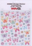 HobbyFun Schmetterlinge Pastell Hobby-Design Sticker