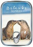 HARTUNG EDITION Urlaubsschmatzer / zwei Seehunde Metalliceffekt Postkarte