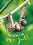 GOLDBEK Irgendwas ist immer faul! / sloth Lichtblicke postcard