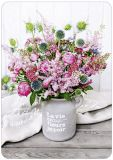 HARTUNG EDITION flowers in grey clay pot MEDLEY postcard
