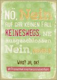 HARTUNG EDITION Nö, Nein... Was? Ja, okay! WORDS UP postcard