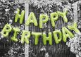 HARTUNG EDITION Happy Birthday balloons  KONTRASTE postcard