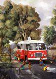 INKOGNITO bus with bunnies - Emilia Dziubak postcard