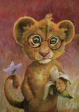 INKOGNITO lion Herbert - Rudi Hurzlmeier postcard
