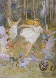 TAURUS-KUNSTKARTEN fairies dance - M. W. Tarrant postcard