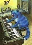 ACARDS cat with piano - Irina Zeniuk postcard
