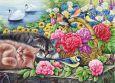 ACARDS cats at swan pond - Irina Garmashova postcard